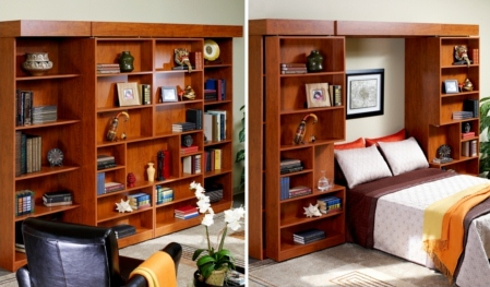 Jefferson Library Murphy Bed | More Space Place Dallas