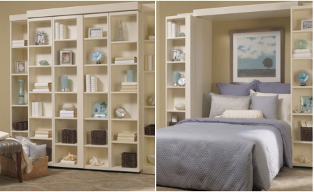 Madison Bi Fold Bookcase Murphy Bed