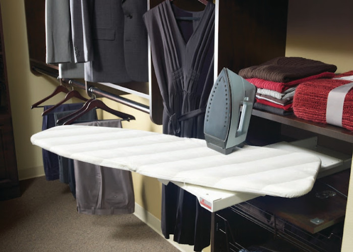 More Space Place closet swing-out ironing board