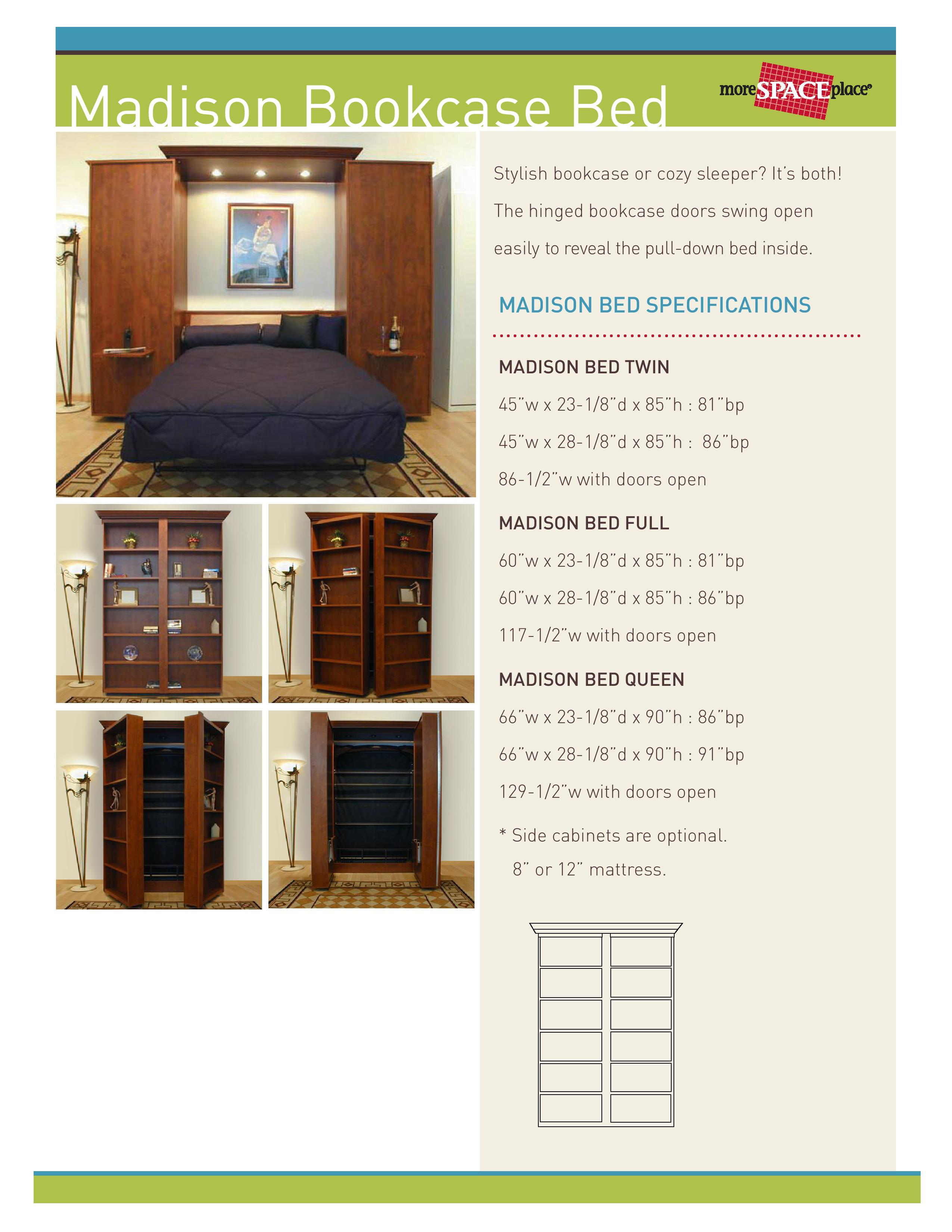 Jefferson Library Murphy Bed For Sale