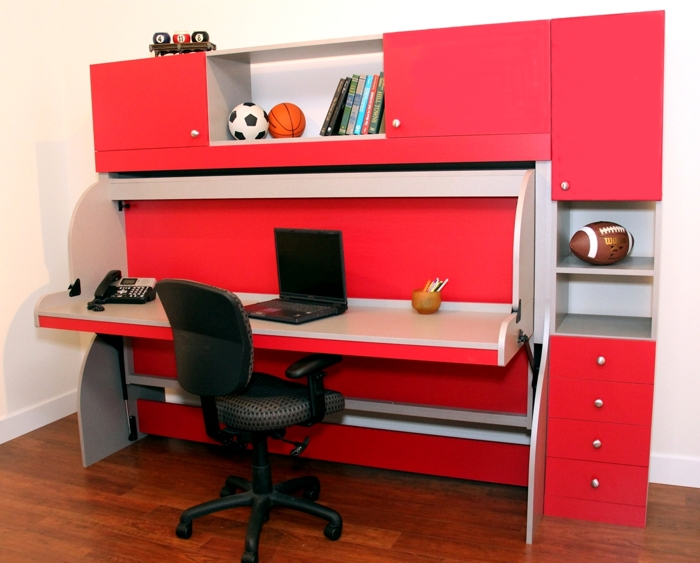 desk bed more space place dallas. Black Bedroom Furniture Sets. Home Design Ideas