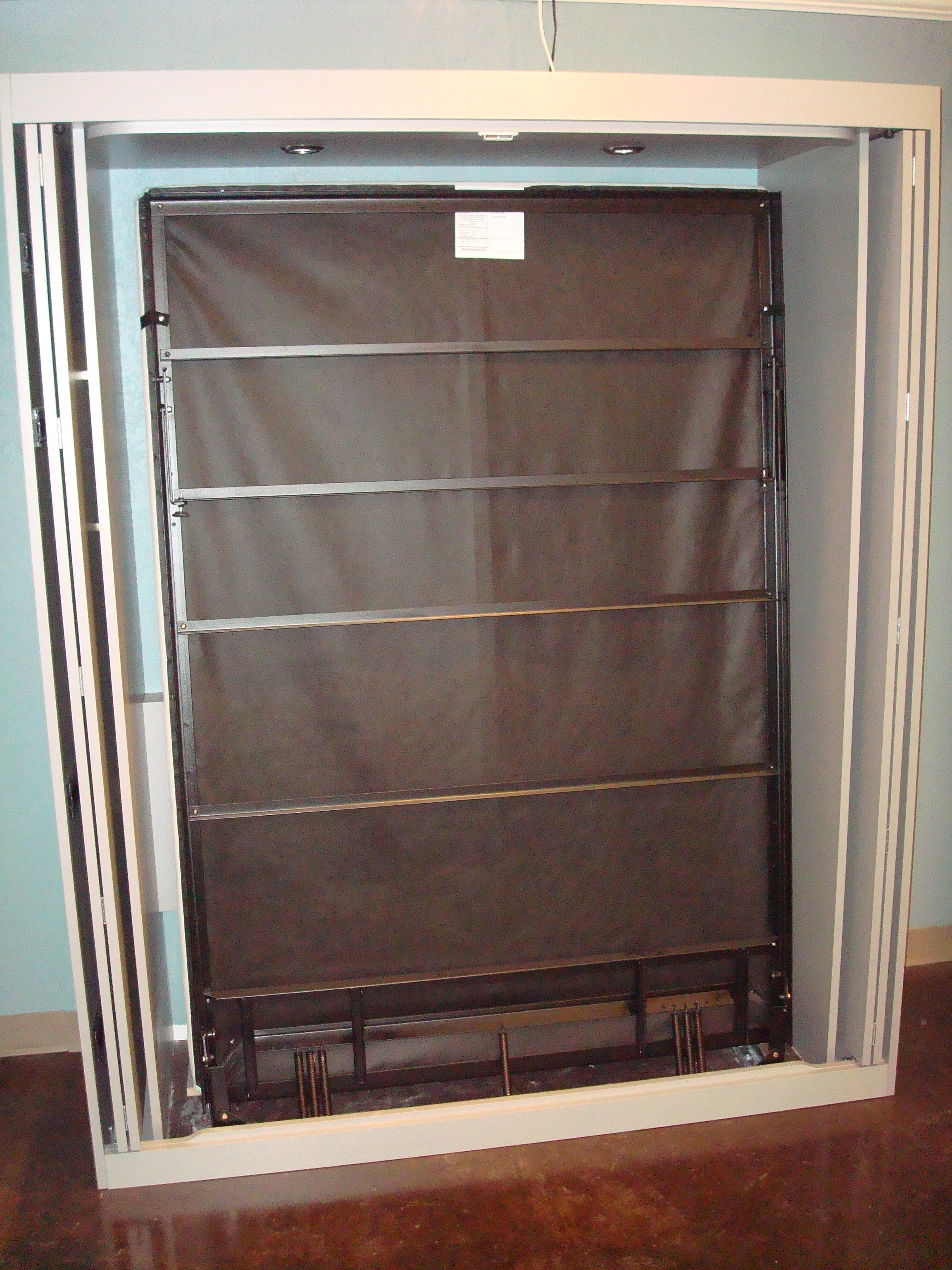 Murphy door diy easy diy wall bed kit boxed go to image for Murphy garage doors