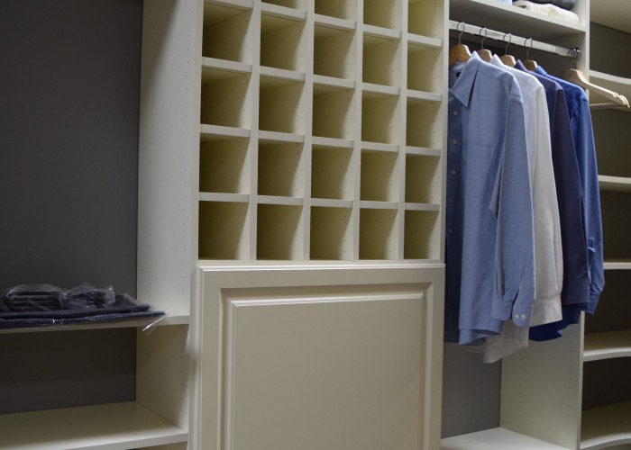Closet hanging, shelf, and shoe storage
