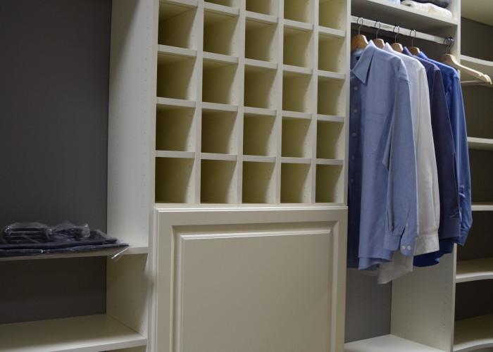 Closet hanging, shelf, and shoe storage