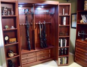 Gun cabinet murphy bed