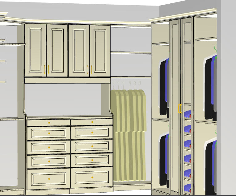traditional white custom closet