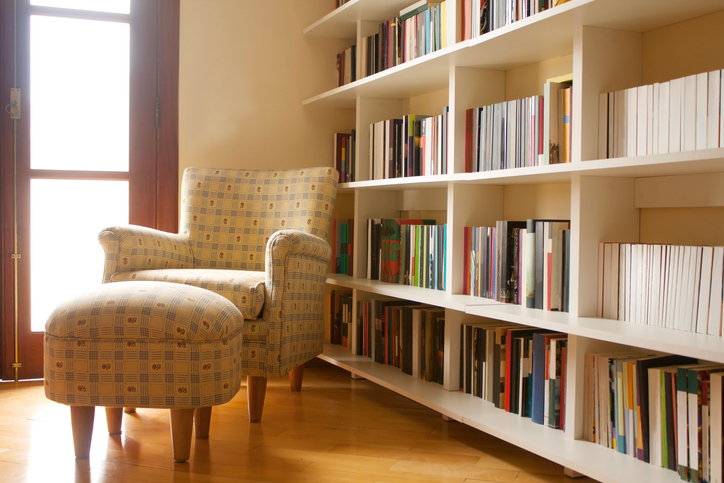 Book organization custom shelves More Space Place Dallas