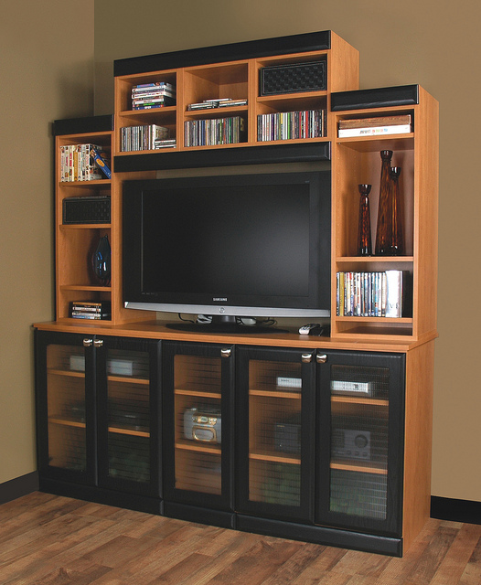 Custom Entertainment Unit More Space Place Dallas
