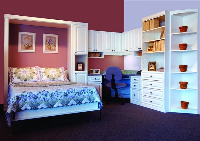 A custom Murphy bed courtesy of More Space Place Dallas