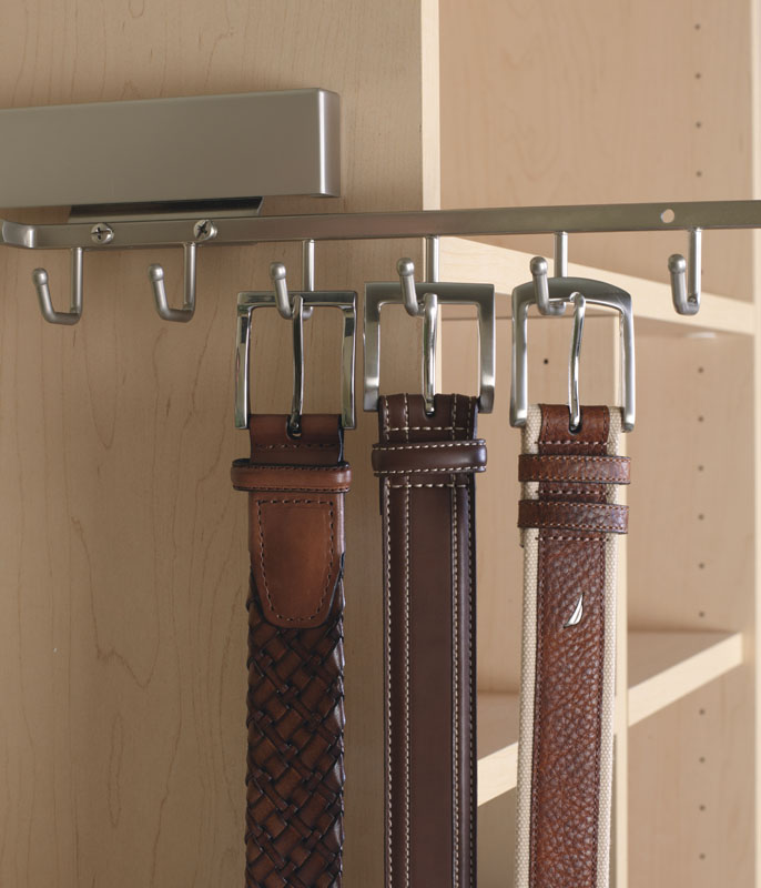 Closet Accesories come in a variety of finishes and are an important part of your custom closet