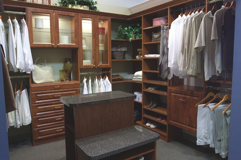 crown moulding can be added in closet to increase elegance