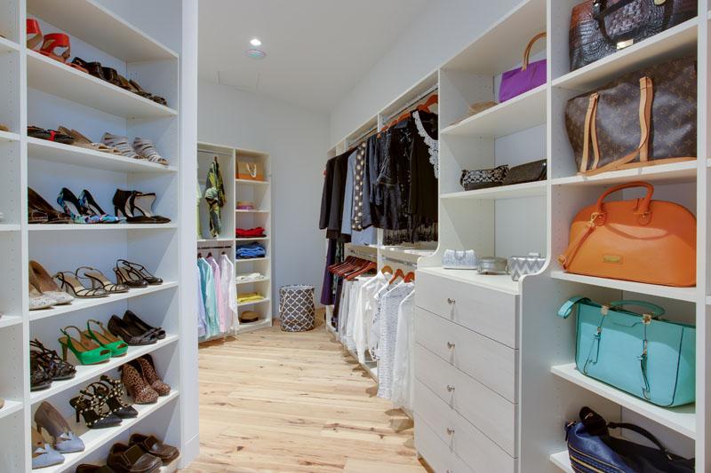 odd shaped closet walls require imaginative closet designs