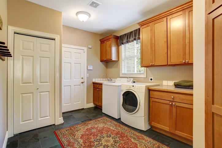 Custom laundry room and storage Texas
