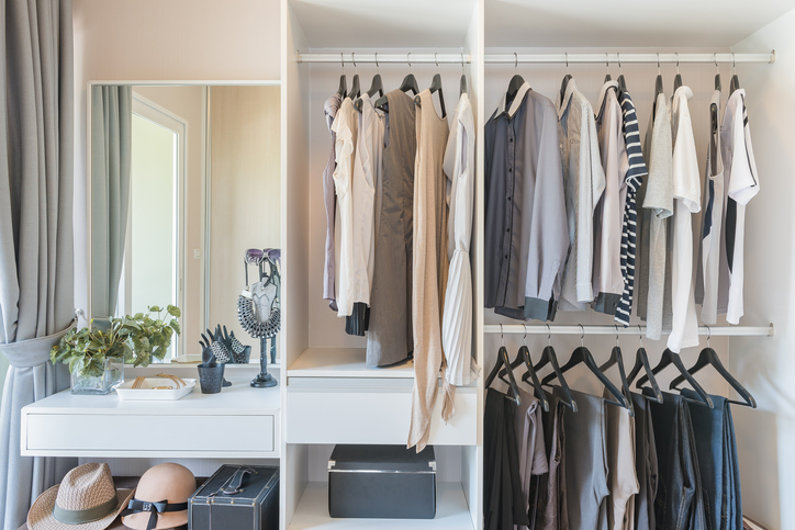 clean organized closet